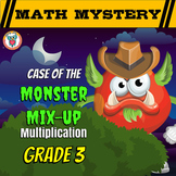 Multiplication Distance Learning Math Mystery: Multiplication Facts 1-12 & Word