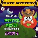 Multiplication Math Mystery Worksheets Multiplying with Larger Numbers Math Game