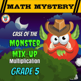 Multiplication Math Mystery Game - Multiplying Decimals, Fractions & More!
