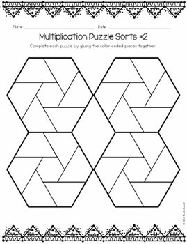 Multiplication Puzzle Sorts