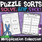 Multiplication Puzzles | Multiplication Facts 0-12 | No Prep Math Centers