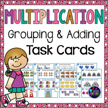 Arrays and Repeated Addition Multiplication Task Cards