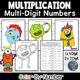 Multi Digit Multiplication Color by Number