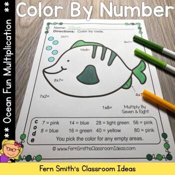 Color By Numbers Ocean Multiplication
