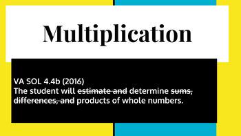 Multiplication 2x1 3x1 VA SOL 4.4b Blended Learning Station