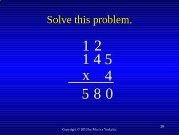 Common Core 4th - Multiplication 3 - 1 Digit x 3 Digits with Regrouping