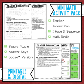 Multiplication 3 Digit By 1 Digit Math Activities Puzzles and Riddle