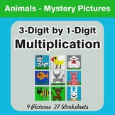 Multiplication: 3-Digit by 1-Digit - Color-By-Number Math Mystery Pictures