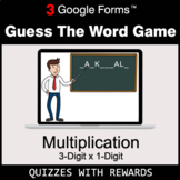 Multiplication 3-Digit by 1-Digit   Guess The Word Game  