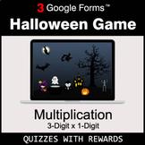Multiplication 3-Digit by 1-Digit   Halloween Decoration G