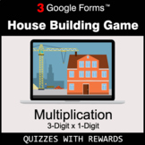 Multiplication 3-Digit by 1-Digit   House Building Game  