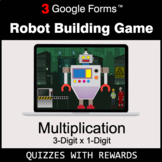 Multiplication 3-Digit by 1-Digit   Robot Building Game  
