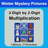 Multiplication: 3-Digit by 2-Digit - Math Mystery Pictures - Winter