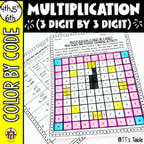 Multiplication (3 Digit by 3 Digit) New Year's Day Mystery Coloring Activity