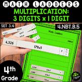 Multiplication - 3 x 1 Digit -  Set 3.4 {Math Ladders & Di