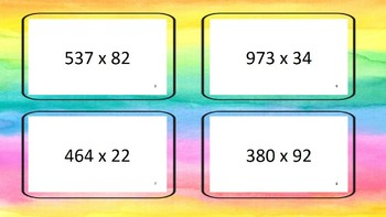 Multiplication 3 digit by 2 digit