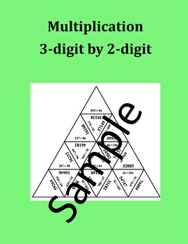 Multiplication – 3-digit by 2-digit – Math Puzzle