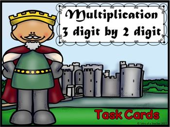 Multiplication  3 digit by 2 digit Task Cards