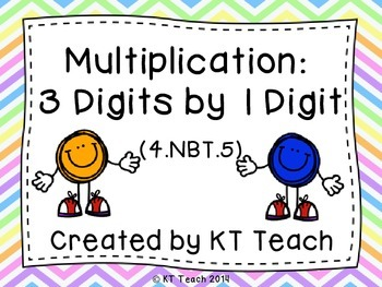 Multiplication: 3 digits by 1 Digit Task Cards