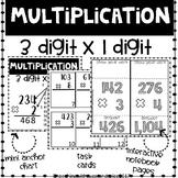 Multiplication 3 x 1 Digit Task Cards