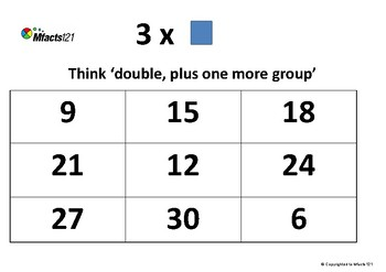 Multiplication- 3 x _ Strategy Pack
