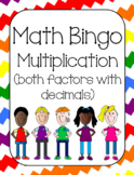 Multiplication with both factors with decimals Bingo