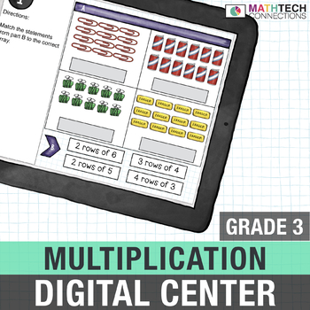 Multiplication 3rd Grade Google Slides™ for Google Classroom™ Math Center