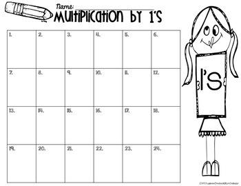 Multiplication 1's