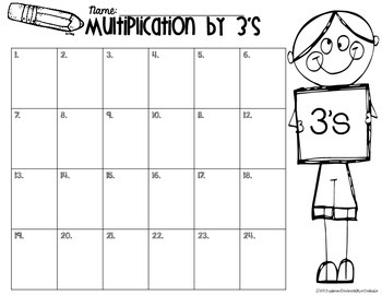 Multiplication 3's
