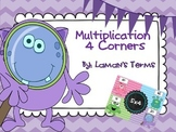 Multiplication 4 Corners Math Review Game