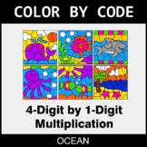 Multiplication: 4-Digit by 1-Digit - Color by Code / Color