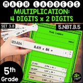Multiplication - 4 Digits x 2 Digit -  Set 3.8 {Math Ladders}