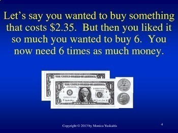 Common Core 4th - Multiplication 4 - Multiplication of Money by 1 Digit