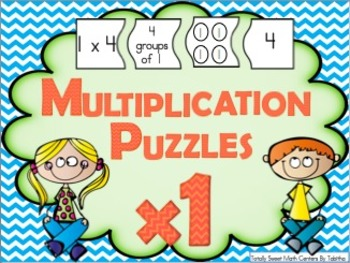 Multiplication 4 Piece Puzzles x1