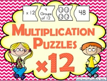 Multiplication 4 Piece Puzzles x12