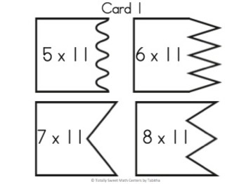 Multiplication 4 Piece Puzzles x11