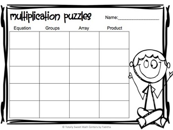 Multiplication 4 Piece Puzzles x4