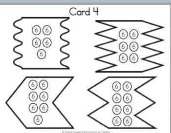 Multiplication 4 Piece Puzzles x6