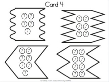Multiplication 4 Piece Puzzles x7