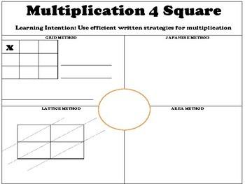 Multiplication 4 Square