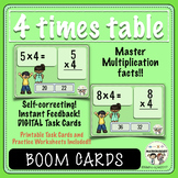 Multiplication, 4 Times Table Fluency, Boom Digital Task Cards and More!