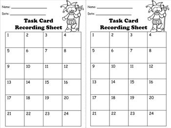 Multiplication 4 digit by 2 digit Task Cards