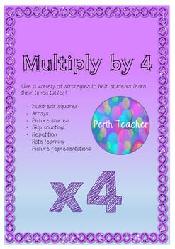 Multiplication 4 times tables