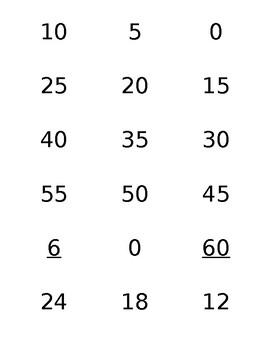 Multiplication 5-8 Flash Cards