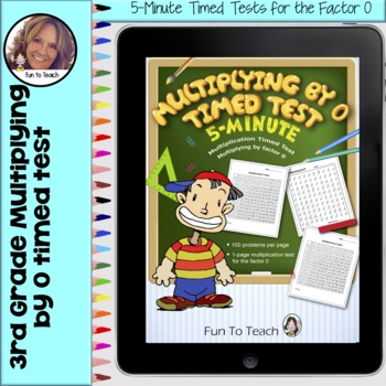 Multiplication 5-Minute Timed Test - Multiplying by 0 and Lesson Plan