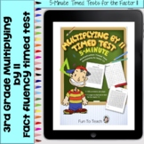 Multiplication 5-Minute Timed Test - Multiplying by 11