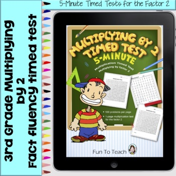 Multiplication 5-Minute Timed Test - Multiplying by 2 and Lesson Plan