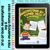Multiplication 5-Minute Timed Test - Multiplying by 5 and Lesson Plan