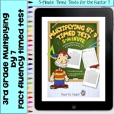 Multiplication 5-Minute Timed Test - Multiplying by 7 and Lesson Plan