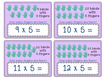 Multiplication, 5 Times Table Fluency, Boom Digital Task Cards and More!